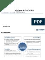 Hyundai Settlement of Class Action
