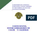 coeficientes intercambiadores de calor