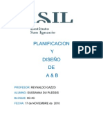 PLANIFICACION Y DISEÑO DE A & B.- Plano de Vacava