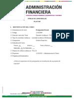 Unidad de Aprendizaje Presupuesto Privado Plan 318 2019-II