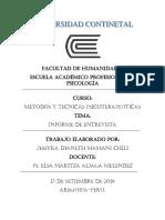 Producto Academico 02 - Informe de Entrevista