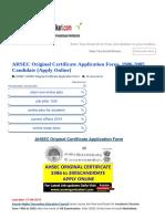 AHSEC Original Certificate