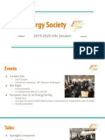 Energy Society First Meeting