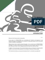 YAMAHA  XT 500E / XT600E Manual