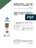 Norma Tecnica Sectorial Colombiana NTS –USNA 003
