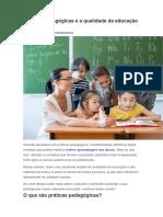 Práticas Pedagógicas e a Qualidade Da Educação