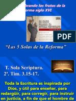 1. T. Sola Scritura. 1 de 5.