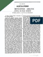 Alexander Gemmeticus Abbas, Epistola de Filio Hominis, MLT