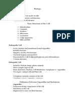 Biology (Cell Theory, Prokaryotes and Eukaryotes)