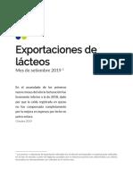 SETIEMBRE 2019 Exportaciones