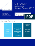 07 201210 Oct SQL Server Optimization and Best Practices for System Center Administrators