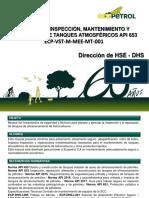 Manual de Inspección Mtto y Reparación de Tanques Atmosféricos API 653 Final - Copia - Copia