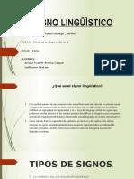 El Signo Lingüìstico Ppt