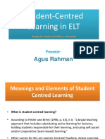 Student-Centred Learning in ELT