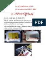 Guida All'Installazione Kit Xenon Alfa 159