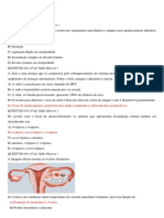 Questões Sobre o Aparelho Reprodutor Humano