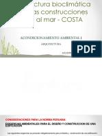 Clase 11 Arquitectura Bioclimatica en La Costa