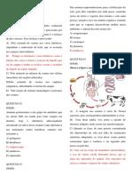 Questões- Vermes-  Nematoides- Platelmintos.