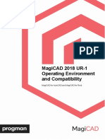 MagiCAD 2018 UR-1 Operating Environment and Compatibility