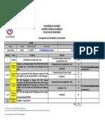 Cronograma de Evaluacion
