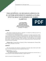 Evaluación de Los RH en El Sistema Hidrográfico Mijares