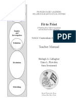 Fit to Print Teacher Manual Sample Pages