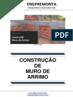 Construção Muro de Arrimo