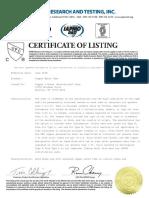 Certificado Tuberia Cobre Nacobre 2019