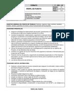 Perfil Puesto Coordinador de Proyectos