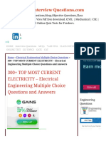 300+TOP CURRENT ELECTRICITY Multiple Choice Questions & Answers