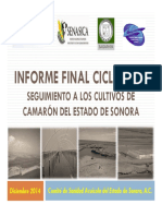 Informe Final COSAES 2014 Camaron