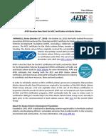 AFDF press release on MSC Alaska salmon transfer