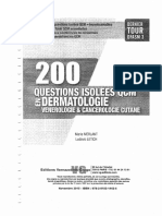 200 Questions Isolées en QCM-Dermatologie, Vénérologie, Cancérologie Cutanée