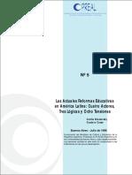 Texto 6. Las Actuales Reformas Educativas en América Latina. Cuatro Actores, Tres Lógicas y