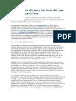 Efectos y Lecciones Del Caso Odebrecht en El Peru
