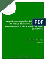 CASTELLANOS ALBA, Juan Carlos 2015. Requisitos de Seguridad de Los Sistemas de Anclaje de Consolas Trepantes de Encofrado Para La Ejecución de Muros de Gran Altura