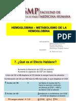 Hemoglobina – Metabolismo de La Hemoglobina