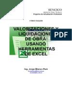 Valorizaciones y liquidaciones de Obra con Herramientas de Excel Parte 2[1].doc