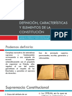 Definición, Características y Elementos de La Constitución