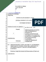 Memorandum Filed by Defendant Joseph Roh in lower receiver case