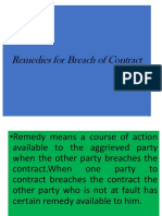 remedies for  breach of contract.ppt