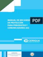 Manual de Mecanismos de Proteccion Para Periodistas y Comunicadores as 1