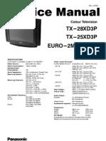Panasonic TX 28xd3p TX 25xd3p