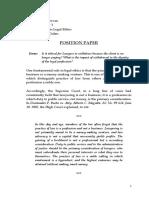PALE Position Paper 4th
