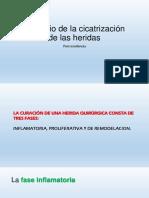 CIRUGIA BUCAL II 2019 CI. TERCERA CLASE. Post Operatorio.principio de La Cicatrización de Las Heridas