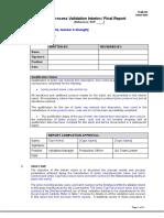Process Validation Report