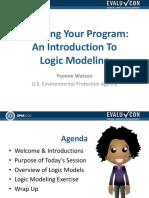 (6a) Logic Models (Yvonne Watson)