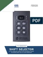 Selectora ALLISON transmision.
