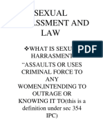 Sexual Harrasement and Law
