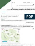 Guía Rápida Básica de AutoCAD 2016 Autodesk